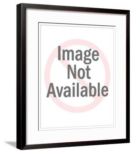Waving Businessman with Flower-Pop Ink - CSA Images-Framed Art Print