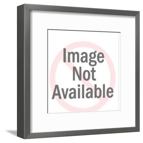 Woman Holding a Bunch of Bills-Pop Ink - CSA Images-Framed Art Print