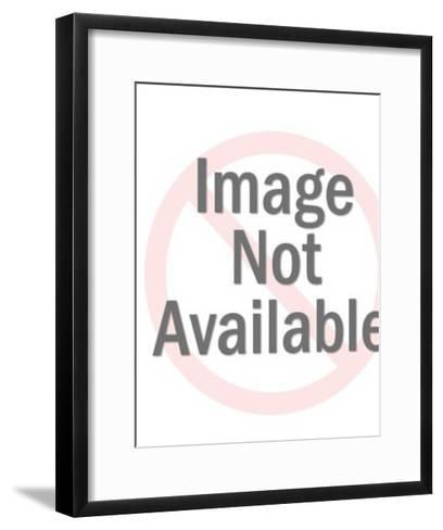 Male and Female Painter Holding Blank Canvas-Pop Ink - CSA Images-Framed Art Print