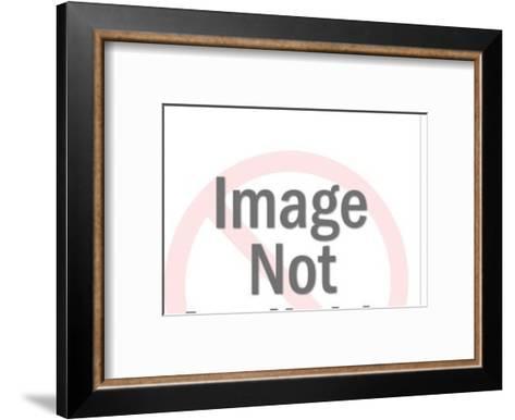 Woman Reading on Floor-Pop Ink - CSA Images-Framed Art Print