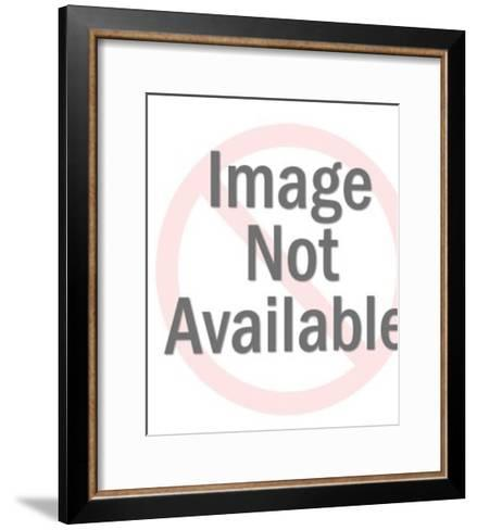 Woman Holding up a Circle-Pop Ink - CSA Images-Framed Art Print