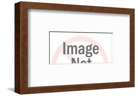 Man with Results Sign-Pop Ink - CSA Images-Framed Art Print