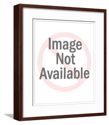 Girl Speaking on the Telephone-Pop Ink - CSA Images-Framed Art Print