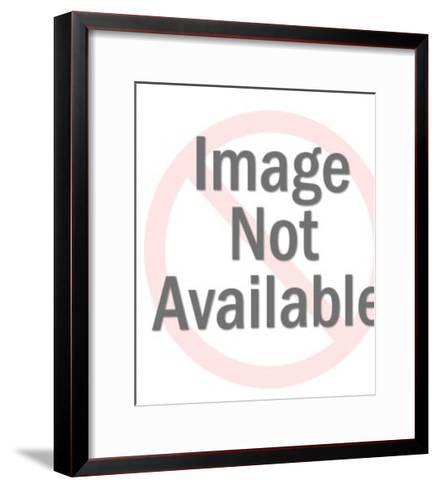 Man Giving Woman Flowers-Pop Ink - CSA Images-Framed Art Print