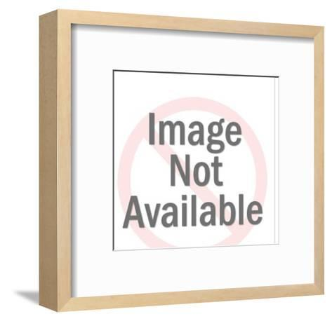 Happy Man Looking at Savings Book-Pop Ink - CSA Images-Framed Art Print