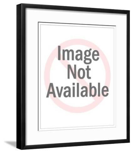 Sitting Lion-Pop Ink - CSA Images-Framed Art Print