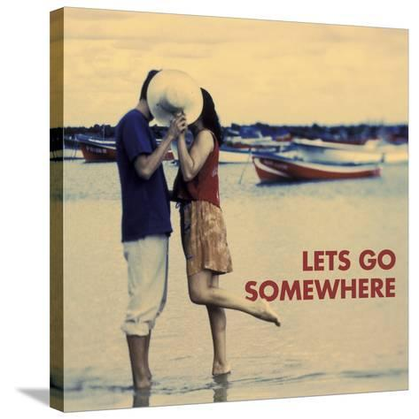 Let's Go Somewhere-Michele Westmorland-Stretched Canvas Print
