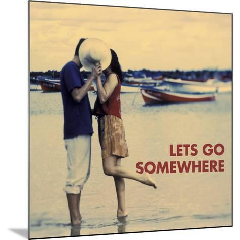 Let's Go Somewhere-Michele Westmorland-Mounted Art Print