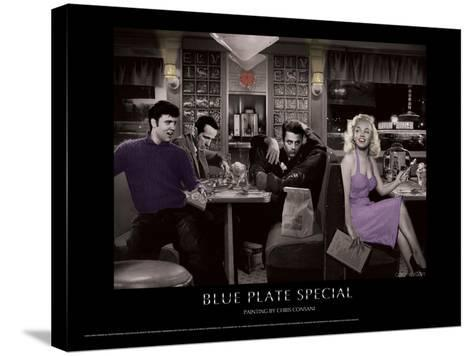 Blue Plate Special (Silver Series)-Chris Consani-Stretched Canvas Print