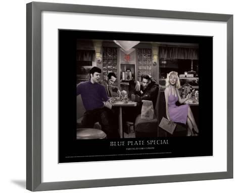 Blue Plate Special (Silver Series)-Chris Consani-Framed Art Print