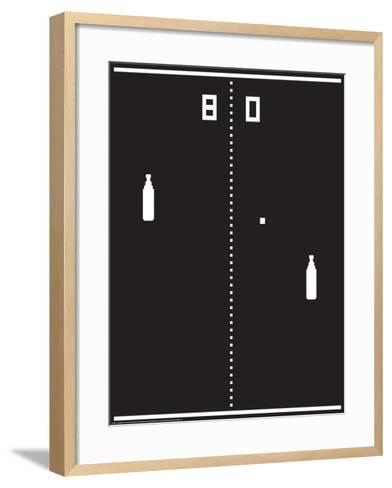 Beer Pong-J.J. Brando-Framed Art Print