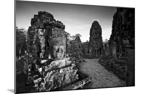Ornate Stone Carvings at the Buddhist Pyramid Temple, Bayon-Jim Ricardson-Mounted Photographic Print