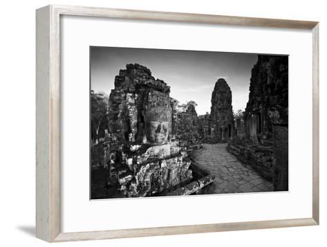 Ornate Stone Carvings at the Buddhist Pyramid Temple, Bayon-Jim Ricardson-Framed Art Print