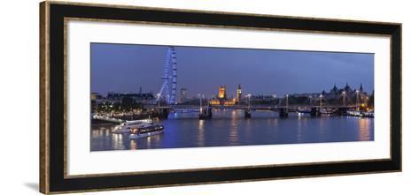 A Blended Composite Panoramic of London on the Thames River at Dusk-Stephen Alvarez-Framed Art Print