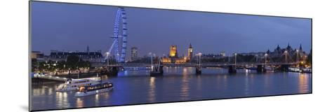 A Blended Composite Panoramic of London on the Thames River at Dusk-Stephen Alvarez-Mounted Photographic Print