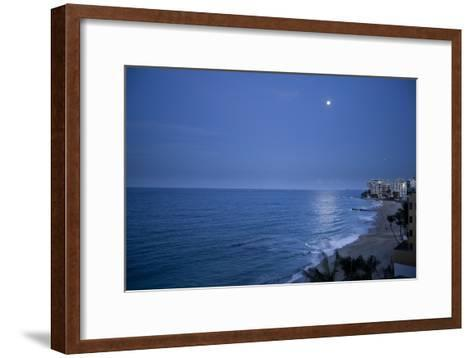 Full Moon Rise Over the Beach and Sea in Puerto Rico-Stephen Alvarez-Framed Art Print