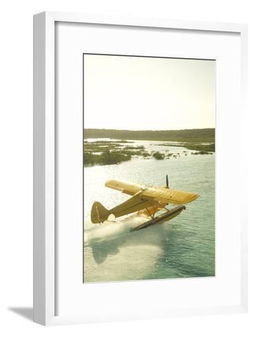 A PA18 Super Cub Floatplane at Conception Island-Jad Davenport-Framed Art Print