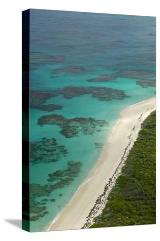 Beautiful and Empty Beaches Along the Coast of Cat Island, Bahamas-Jad Davenport-Stretched Canvas Print