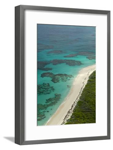 Beautiful and Empty Beaches Along the Coast of Cat Island, Bahamas-Jad Davenport-Framed Art Print