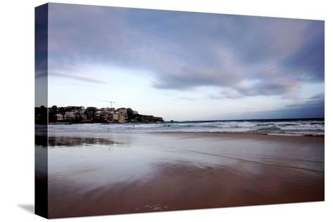 Sunset at Bondi Beach-Jill Schneider-Stretched Canvas Print