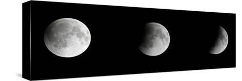 Composite Telescopic Sequence of Moon Phases Leading to a Total Eclipse-Steve And Donna O'Meara-Stretched Canvas Print