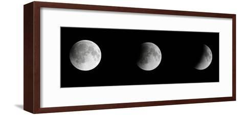 Composite Telescopic Sequence of Moon Phases Leading to a Total Eclipse-Steve And Donna O'Meara-Framed Art Print