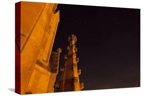 The Spires of Shapard Tower Against a Starry Night Sky-Stephen Alvarez-Stretched Canvas Print