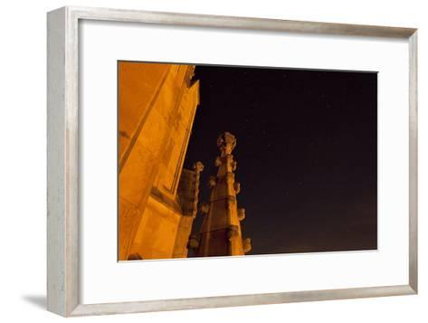 The Spires of Shapard Tower Against a Starry Night Sky-Stephen Alvarez-Framed Art Print