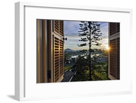 The Sun Rises Over Xuan Huong Lake in Vietnam-Steve Raymer-Framed Art Print