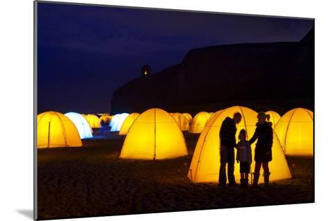 Peace Camp Art Installation by the Mussenden Temple in Derry-Chris Hill-Mounted Photographic Print