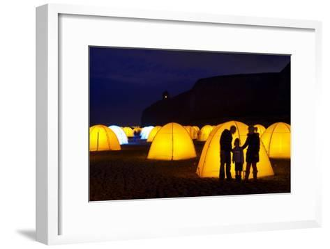 Peace Camp Art Installation by the Mussenden Temple in Derry-Chris Hill-Framed Art Print