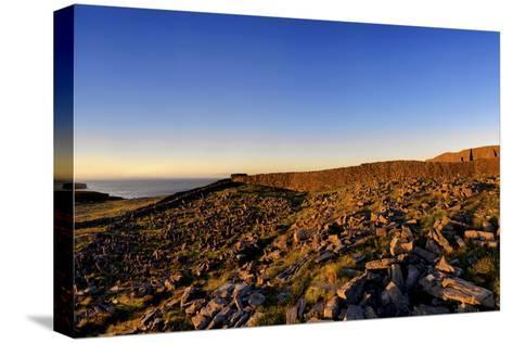 Dun Aengus Fort on the Aran Islands, West Coast of Ireland-Chris Hill-Stretched Canvas Print
