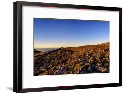 Dun Aengus Fort on the Aran Islands, West Coast of Ireland-Chris Hill-Framed Art Print
