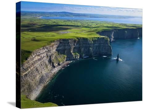 Aerial View of the Cliffs of Moher on the West Coast of Ireland-Chris Hill-Stretched Canvas Print
