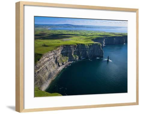 Aerial View of the Cliffs of Moher on the West Coast of Ireland-Chris Hill-Framed Art Print