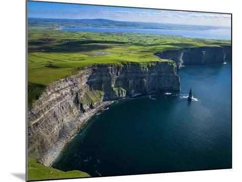 Aerial View of the Cliffs of Moher on the West Coast of Ireland-Chris Hill-Mounted Photographic Print
