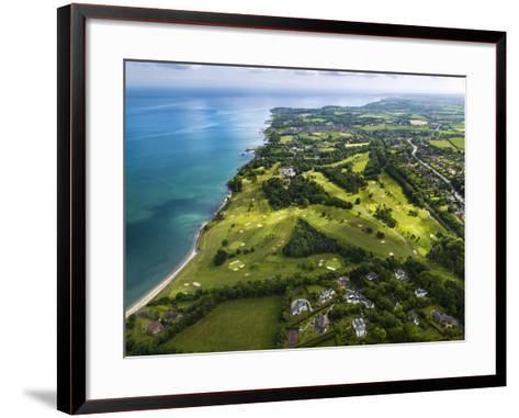 Aerial View of Royal Belfast Golf Club, Northern Ireland-Chris Hill-Framed Art Print