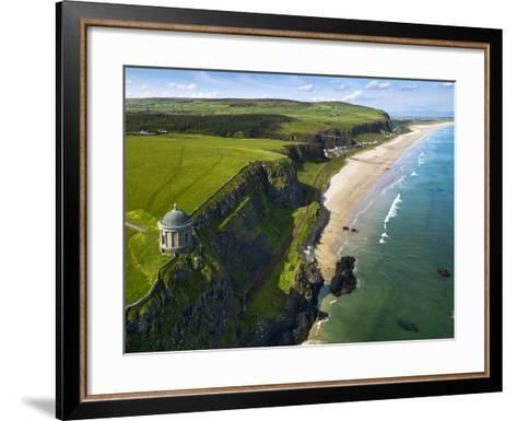 Mussenden Temple, a Folly on the North Irish Coast-Chris Hill-Framed Art Print