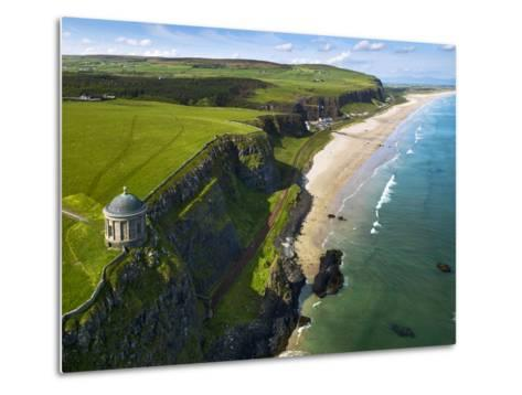 Mussenden Temple, a Folly on the North Irish Coast-Chris Hill-Metal Print