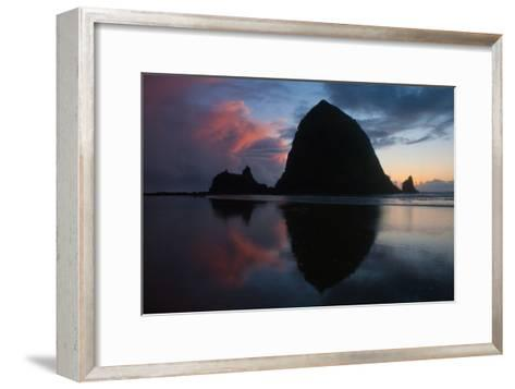 Sunset in Cannon Beach, Oregon-Vickie Lewis-Framed Art Print