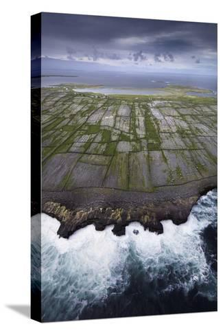 Ancient Stone Walls Pattern Inisheer Enveloped in the Atlantic-Jim Richardson-Stretched Canvas Print