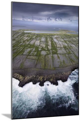 Ancient Stone Walls Pattern Inisheer Enveloped in the Atlantic-Jim Richardson-Mounted Photographic Print