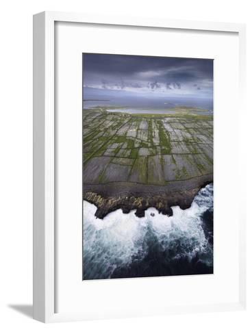 Ancient Stone Walls Pattern Inisheer Enveloped in the Atlantic-Jim Richardson-Framed Art Print