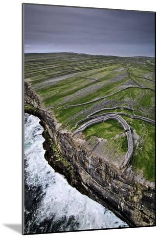 Atlantic Waves Crash on the Cliffs Beneath the Ancient Dun Aengus-Jim Richardson-Mounted Photographic Print