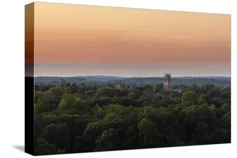 Shapard and Bresslen Towers Rise Over the Forest in Sewanee, Tenn-Stephen Alvarez-Stretched Canvas Print
