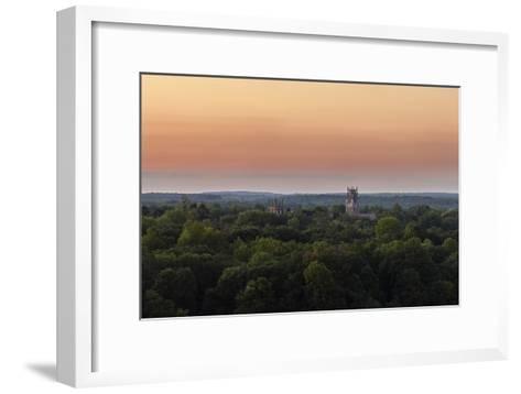 Shapard and Bresslen Towers Rise Over the Forest in Sewanee, Tenn-Stephen Alvarez-Framed Art Print