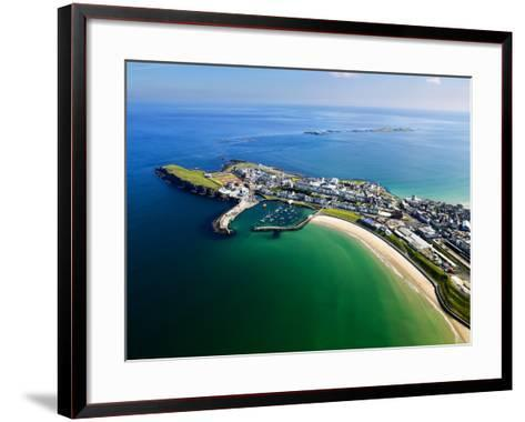 Aerial View Over Portrush, Northern Ireland-Chris Hill-Framed Art Print