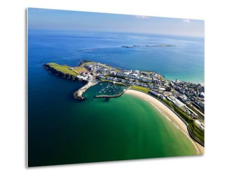 Aerial View Over Portrush, Northern Ireland-Chris Hill-Metal Print