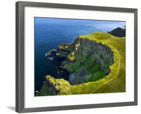 Aerial View of the Giant's Causeway in Northern Ireland-Chris Hill-Framed Art Print
