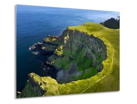 Aerial View of the Giant's Causeway in Northern Ireland-Chris Hill-Metal Print